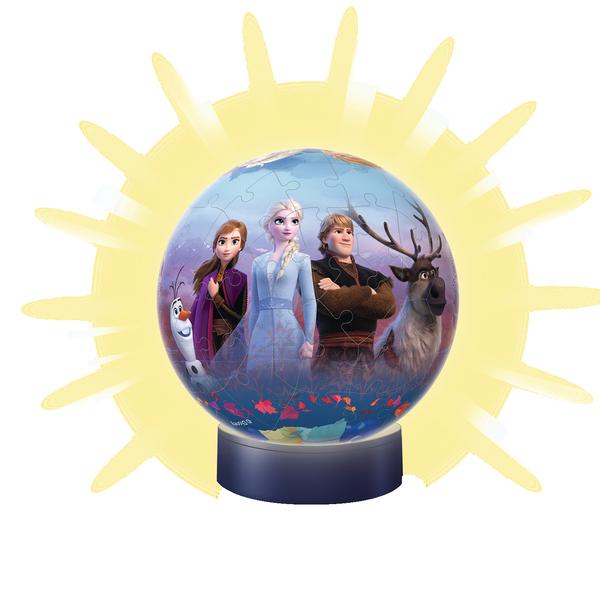 Puzzle 3D illuminé 72 pièces La Reine des Neiges 2