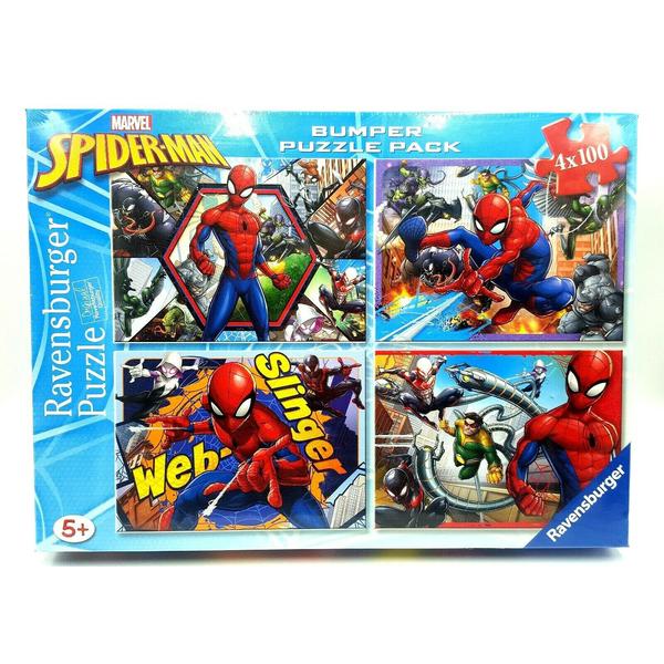 4 Puzzles 100 pièces - Spiderman