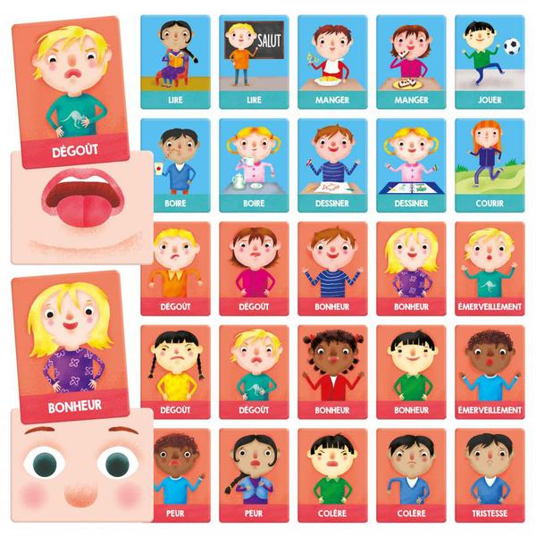 Flash cards émotions et actions Montessori
