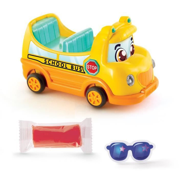 Pâte à modeler - Véhicule Power Dough N'Go jaune