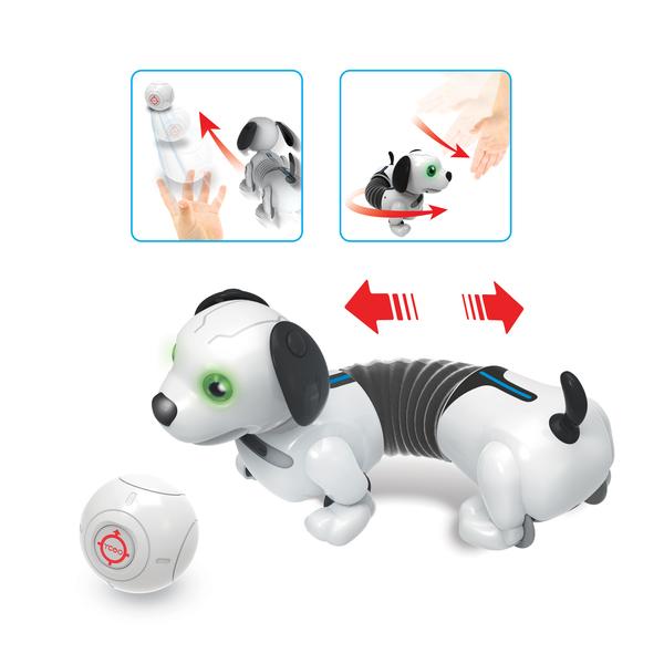Chien Robot interactif - YCOO - Chien Dackel Junior - 25 cm