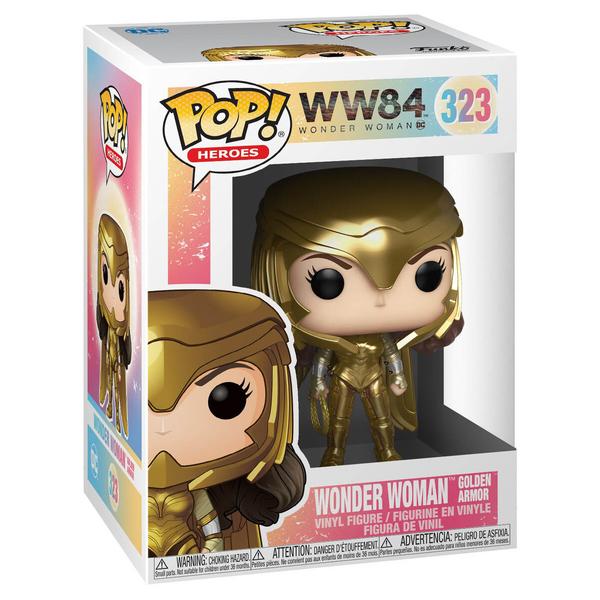 Figurine Wonder Woman 1984 Armure Dorée 323 Funko Pop Heroes