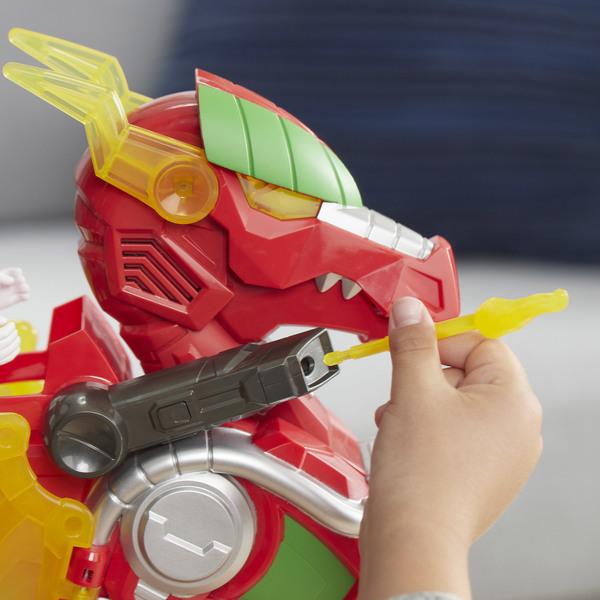 Figurine Ranger Rouge 12 cm et Véhicule Dragon Thunderzord - Power Rangers