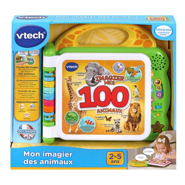 Livre interactif - Mon imagier des animaux bilingue