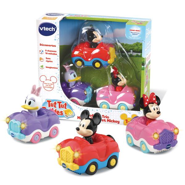 Coffret trio voitures Mickey Daisie Minnie Tut Tut Bolides - Disney