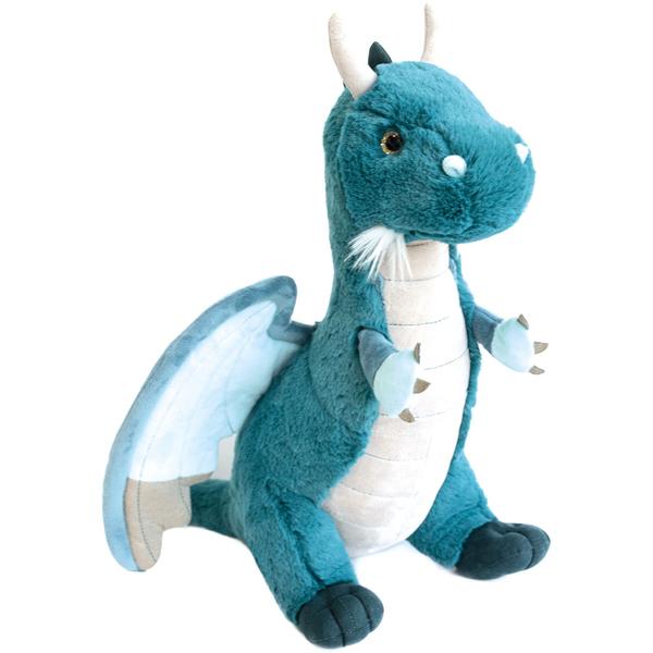 Peluche dragon émeraude 40 cm