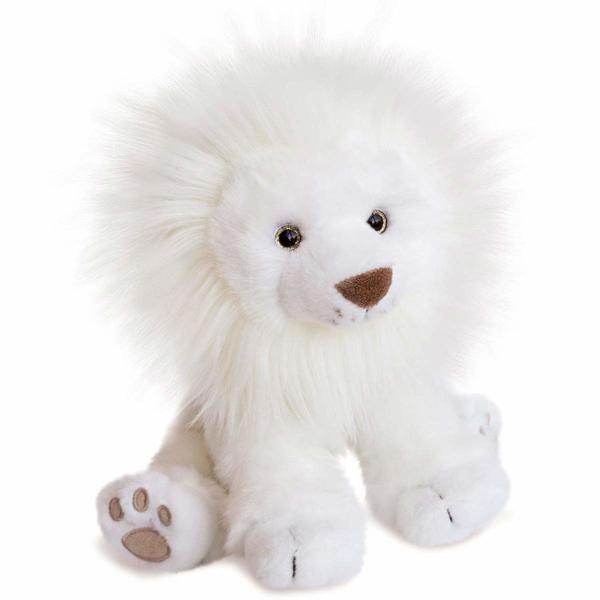 Peluche lion des neiges 28 cm