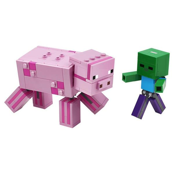 21157 - LEGO® Minecraft Bigfigurine cochon et bébé zombie