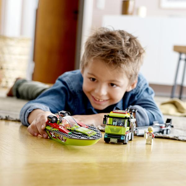 60254 - LEGO® City  le transport du bateau de course