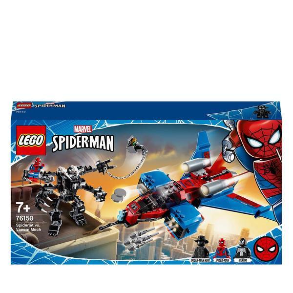 76150-LEGO® Marvel Super Heroes - Le Spider-jet contre le robot de Venom
