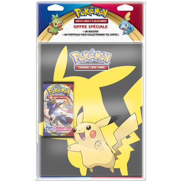 Pack portfolio et booster Pokémon épée et bouclier 1
