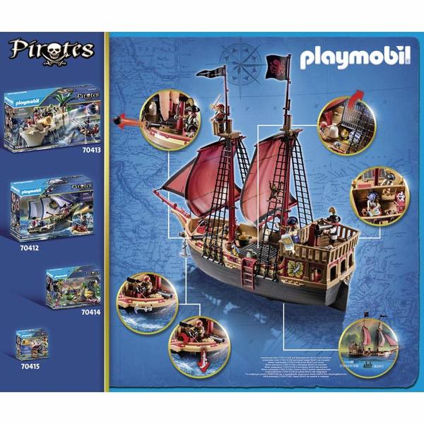 70411 - Playmobil Pirates - Bateau pirates