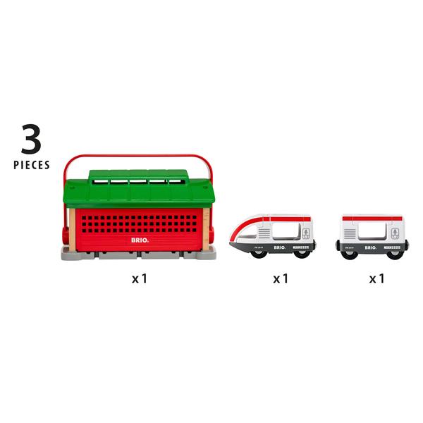 33474 - Brio World - Garage pour trains portatif