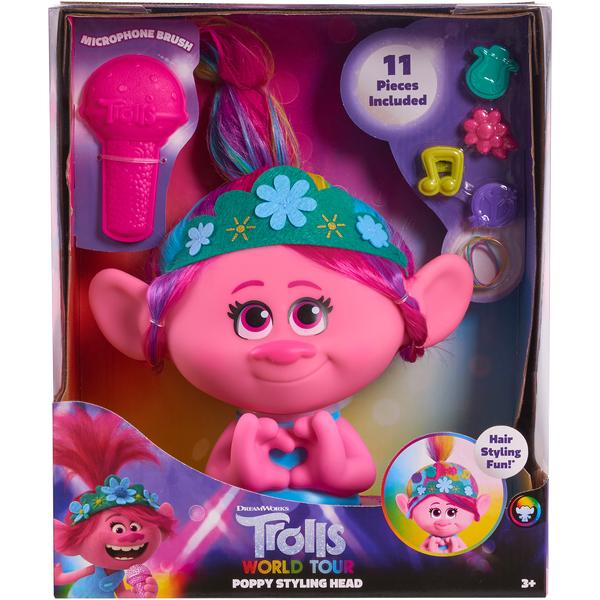 Tête à coiffer Poppy Trolls World Tour