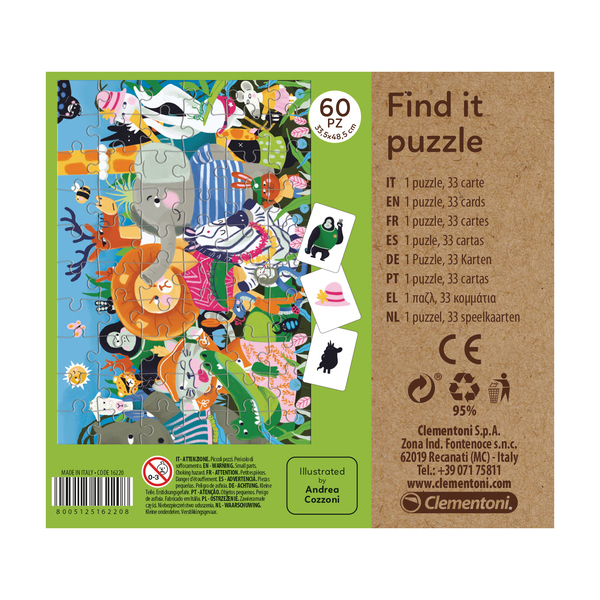 Puzzle éducatif 60 pièces Find It-Tous ensemble - Play For Future