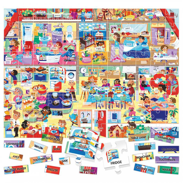 Puzzle Easy English My House