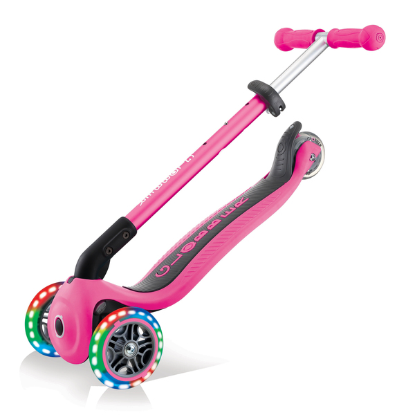 Trottinette lumineuse et pliable Neon Pink