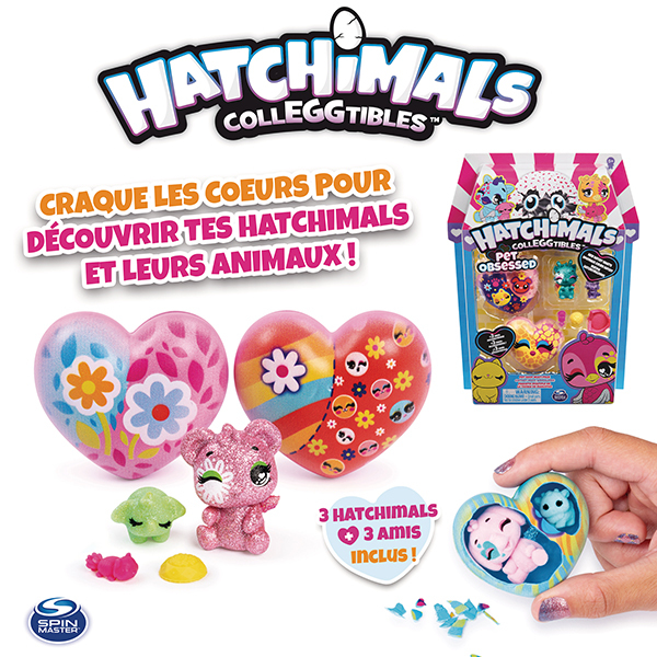Coffret 3 Hatchimals et 3 animaux S7