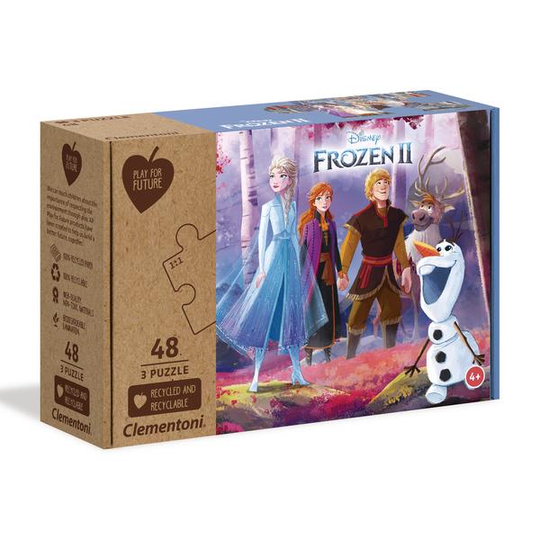 3 Puzzles 48 pièces La Reine des Neiges 2 - Play For Future