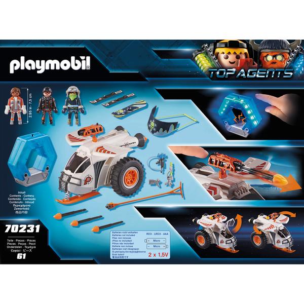 70231 - Playmobil Top Agents - Véhicule des neiges de la Spy Team