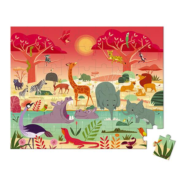 Puzzle 54 pièces La réserve animalière