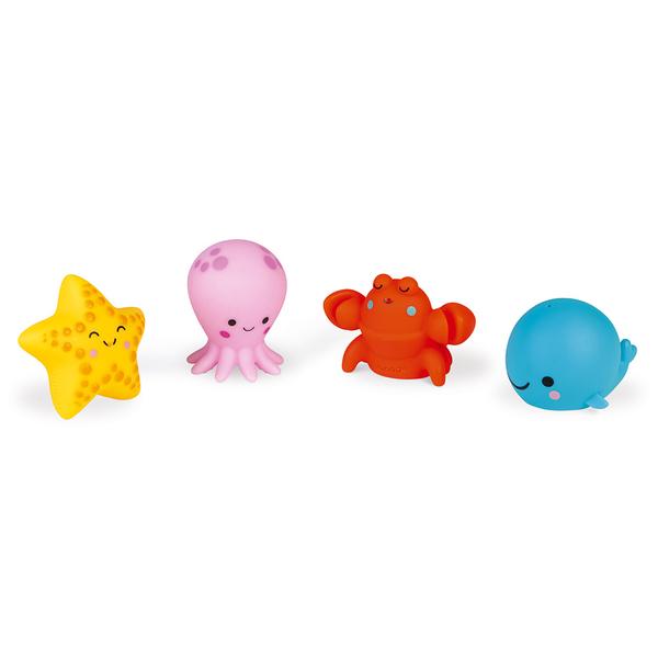 Gicleurs pour le bain 4 animaux de la mer