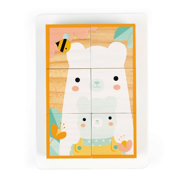 Puzzle 6 cubes en bois - Pure