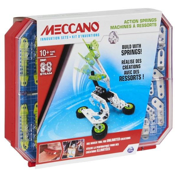 Meccano - Set 4 - Kit d'inventions - Ressorts
