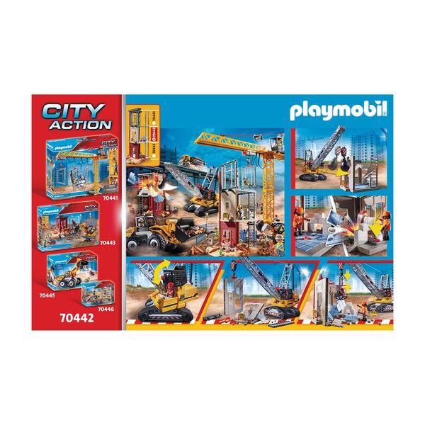 70442 - Playmobil City Action - Dragline avec mur de construction