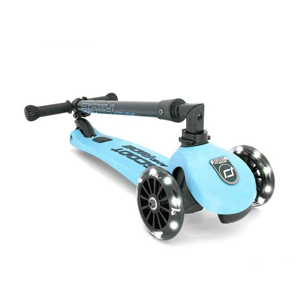 Trottinette Highwaykick 3 roues LED myrtille