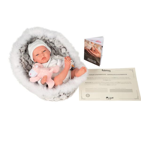 Bébé Reborns 40 cm avec couffin