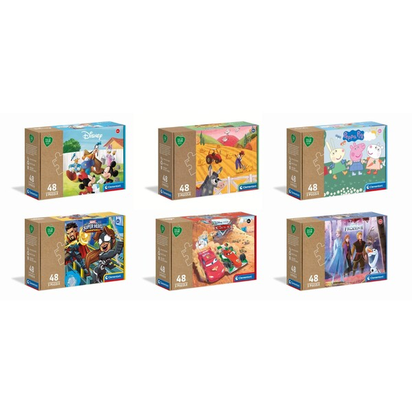 3 Puzzles 48 pièces - Play For Future