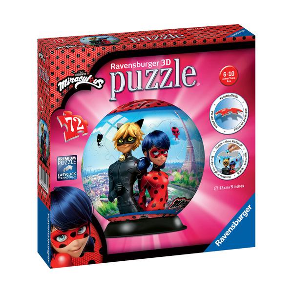 Puzzle 3D rond 72 pièces Miraculous