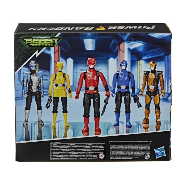 Pack 5 figurines Power Rangers Beast Morphers 30 cm