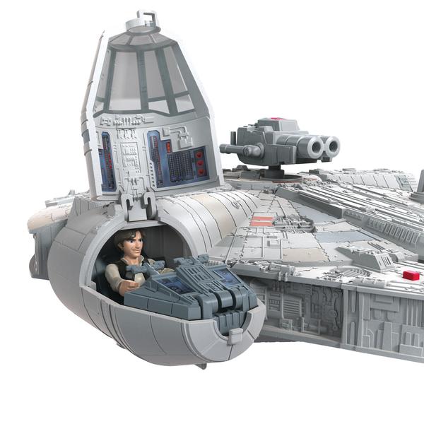 Faucon Millenium et figurine Han Solo - Star Wars