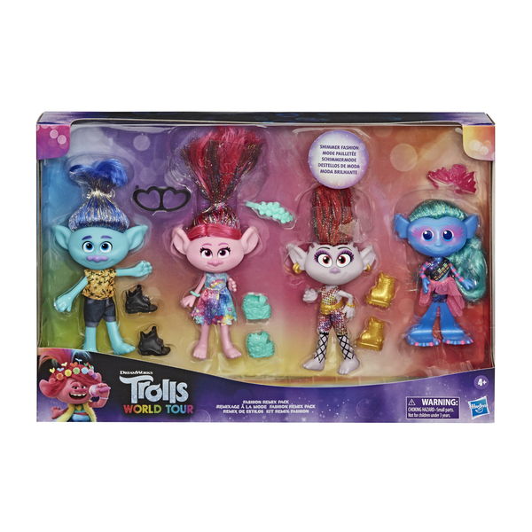 Pack 4 poupées fashion - Trolls