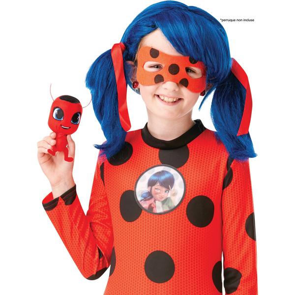 Déguisement Miraculous Ladybug 7/8 ans avec peluche Tikki