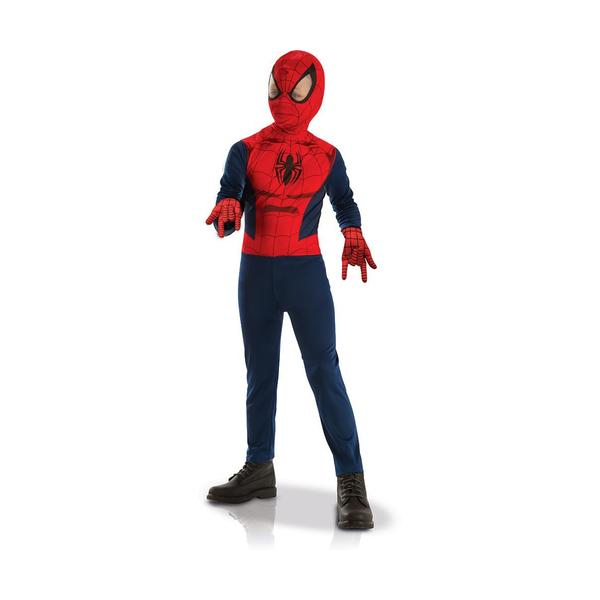 Panoplie classique Spider-Man + gants - 5/6 ans