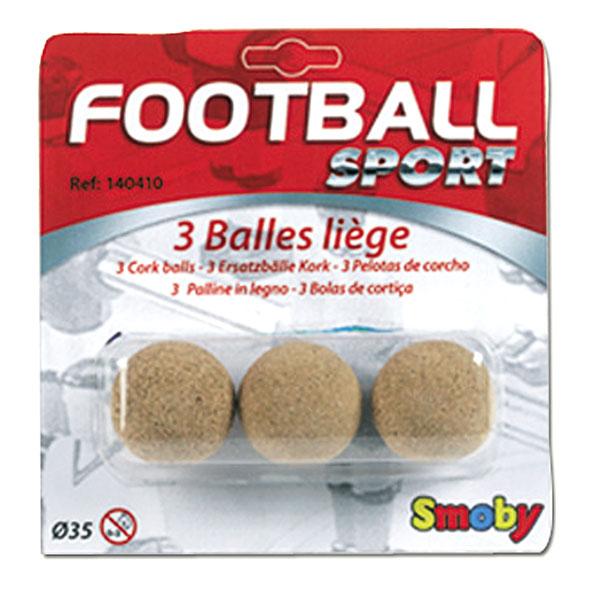 3 balles de baby foot en li ge smoby king jouet. Black Bedroom Furniture Sets. Home Design Ideas