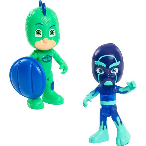 2 figurines Pyjamasques - Gluglu et Kévin