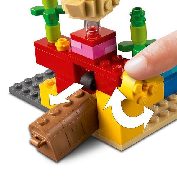 21164 - LEGO® Minecraft - Le récif corallien