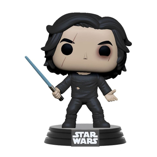 Figurine Star Wars Ben Solo avec sabre laser bleu - Funko Pop