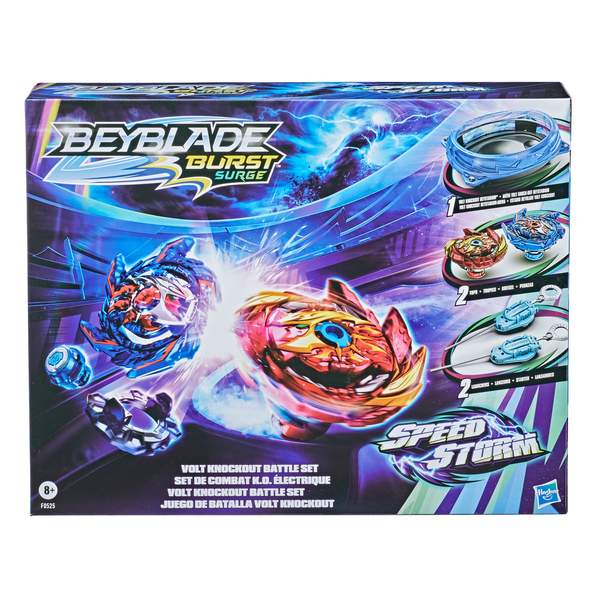 Set de combat Volt Knockout : arène Beystadium - Beyblade Burst Surge Speedstorm