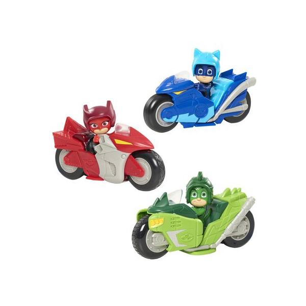 Figurine Pyjamasques et sa moto à friction