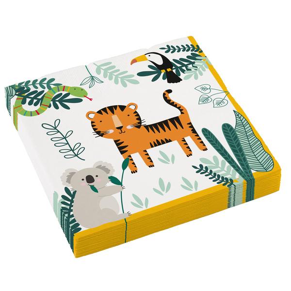 16 serviettes Jungle
