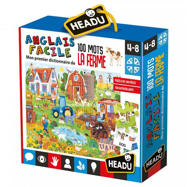 Puzzle Anglais facile 100 mots - La Ferme