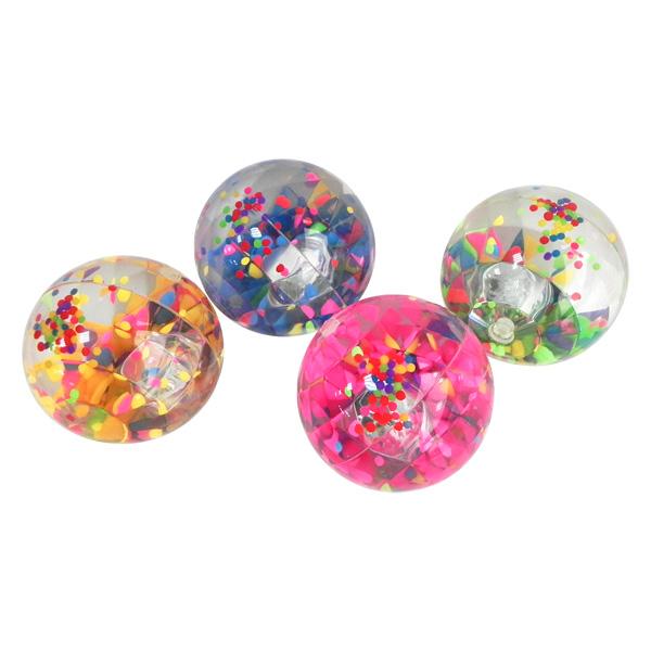 Balles rebondissante confetti pour 6€