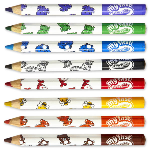 8 Maxi Crayons de Couleurs