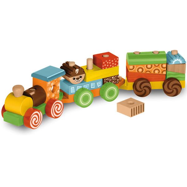 Petit Jouet En Bois - Locomotive + 2 wagons en bois WOOD N PLAY King Jouet, Lego, planchettes& autres WOOD N PLAY