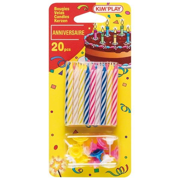 20 bougies multicolores pour 2€
